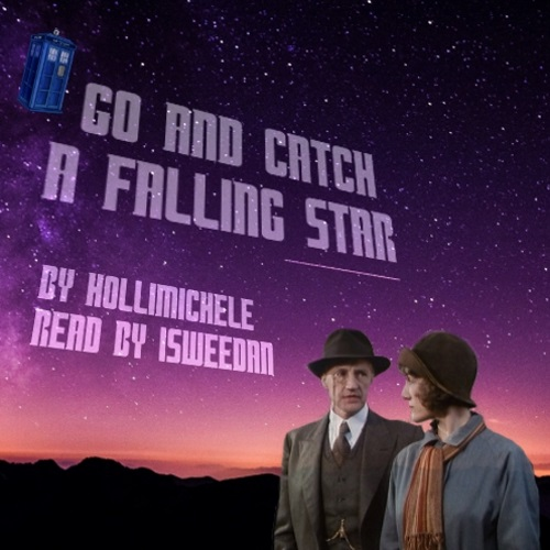 coverart! Harriet and Peter looking at each other in a detective way in front of a very star-filled night sky. Little TARDIS flying near title and creator credits above them.